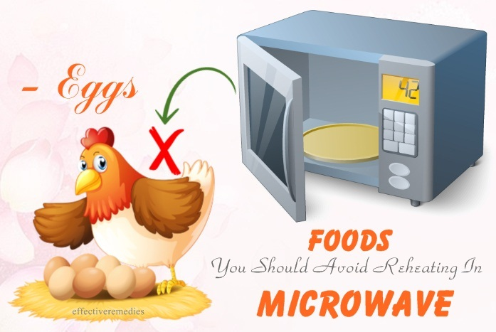 foods you should avoid reheating in microwave - eggs