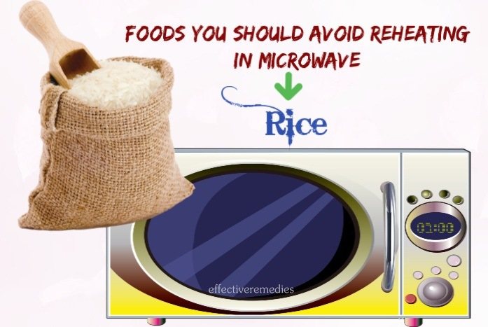 foods you should avoid reheating in microwave - rice