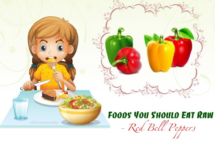foods you should eat raw - red bell peppers
