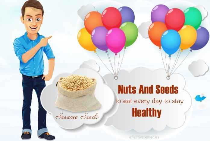 nuts and seeds to eat every day to stay healthy - sesame seeds