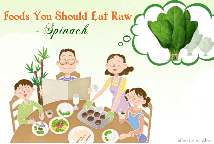 foods you should eat raw - spinach