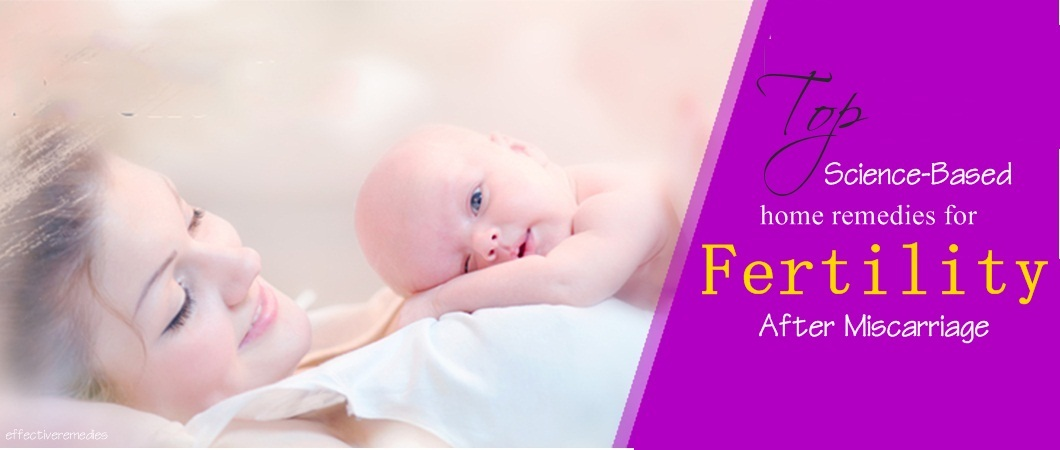 home remedies for fertility after miscarriage